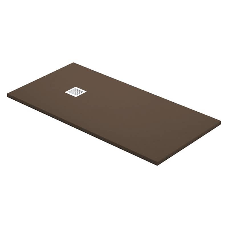 Platos De Ducha Resina Piedra.Plato De Ducha Resina Chocolate Textura Piedra Desague Cuadrado 12cm